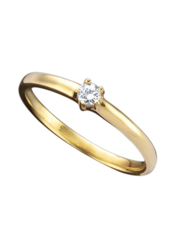 Ring in 0,10 ct. Gold 585