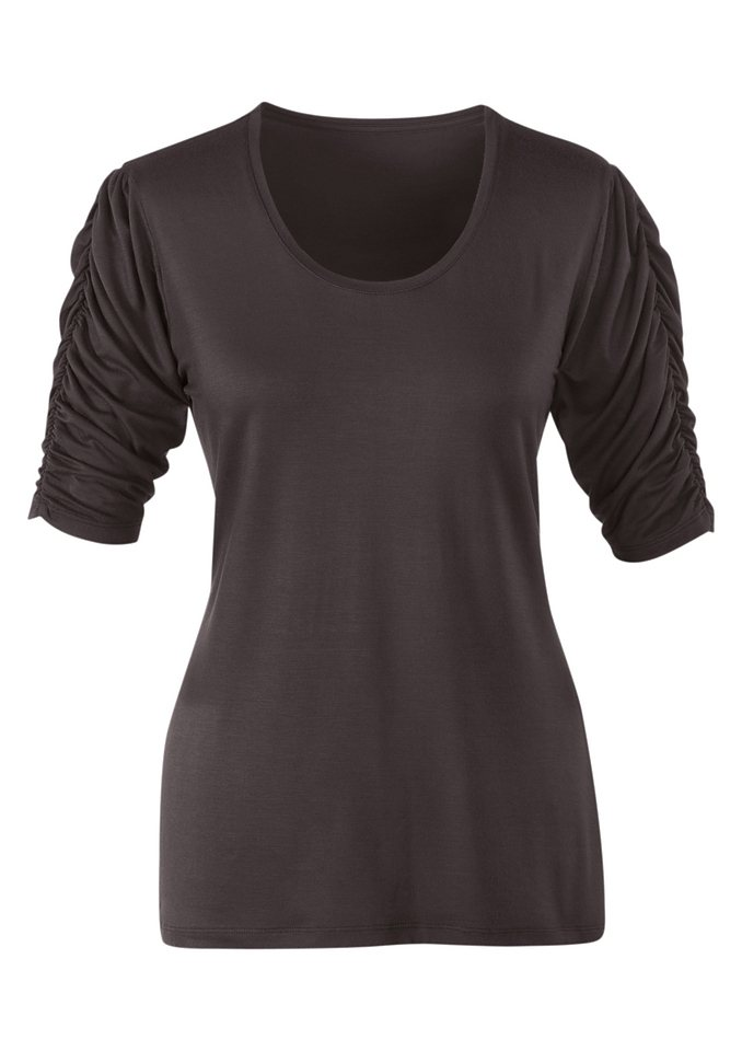Classic Inspirationen Shirt mit Rundhals-Ausschnitt in braun