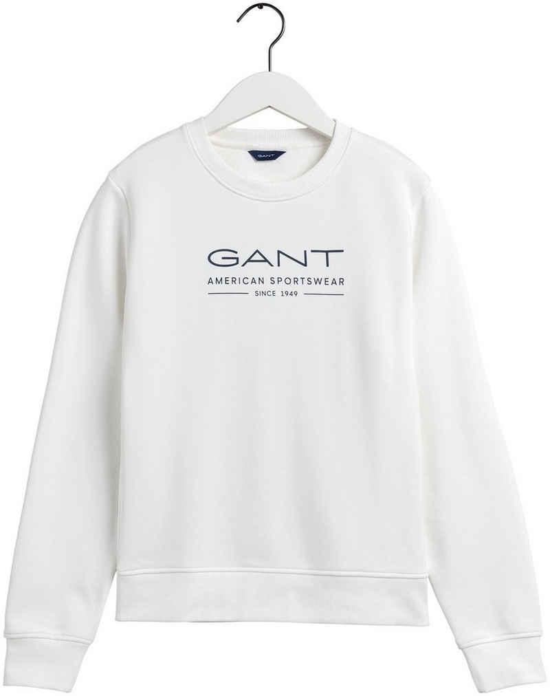 Gant Sweatshirt mit sportivem Front-Logo
