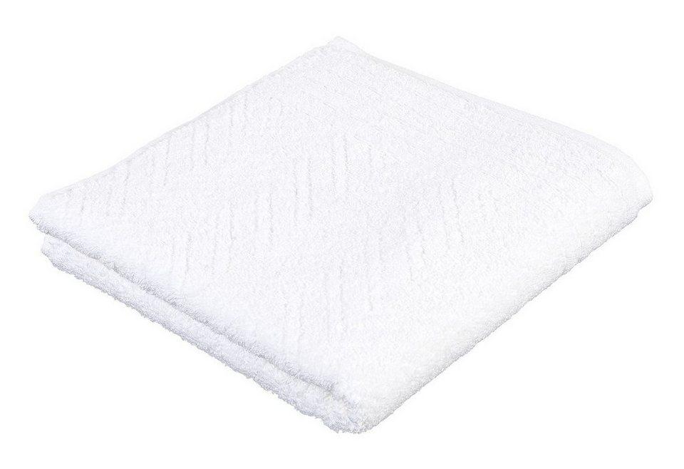 Handtuch, Frottana, »Elegance«, mit Musterprägung in weiß