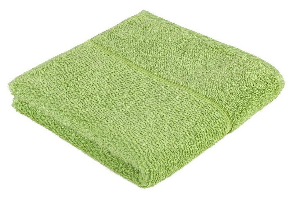 Handtuch, Frottana, »Pearl«, mit Perloptik in grün