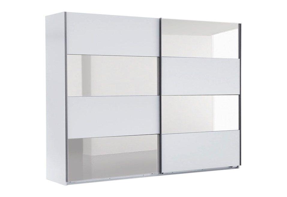 Wimex Schwebetürenschrank in weiß/Spiegel