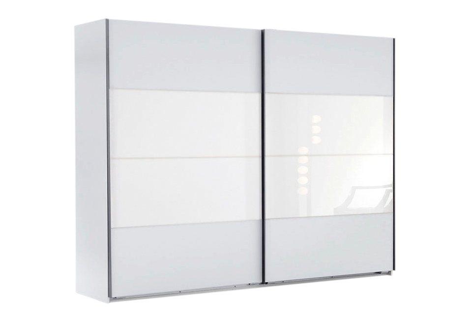 Wimex Schwebetürenschrank in weiß/Weißglas