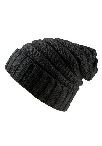 J. Jayz Strickmütze extragroß gearbeitet in schwarz