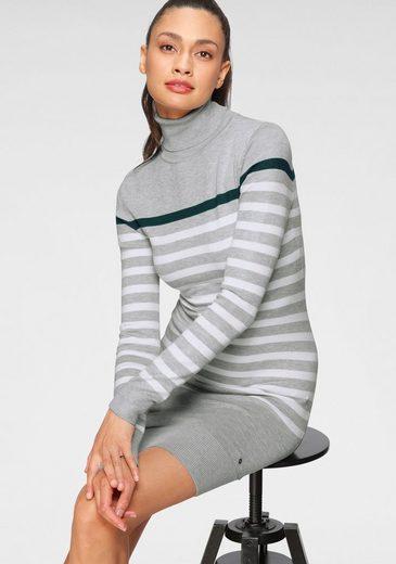 AJC Strickkleid aus weicher LENZING™ ECOVERO™ Viskose und tollem Streifen-Design - NEUE KOLLEKTION