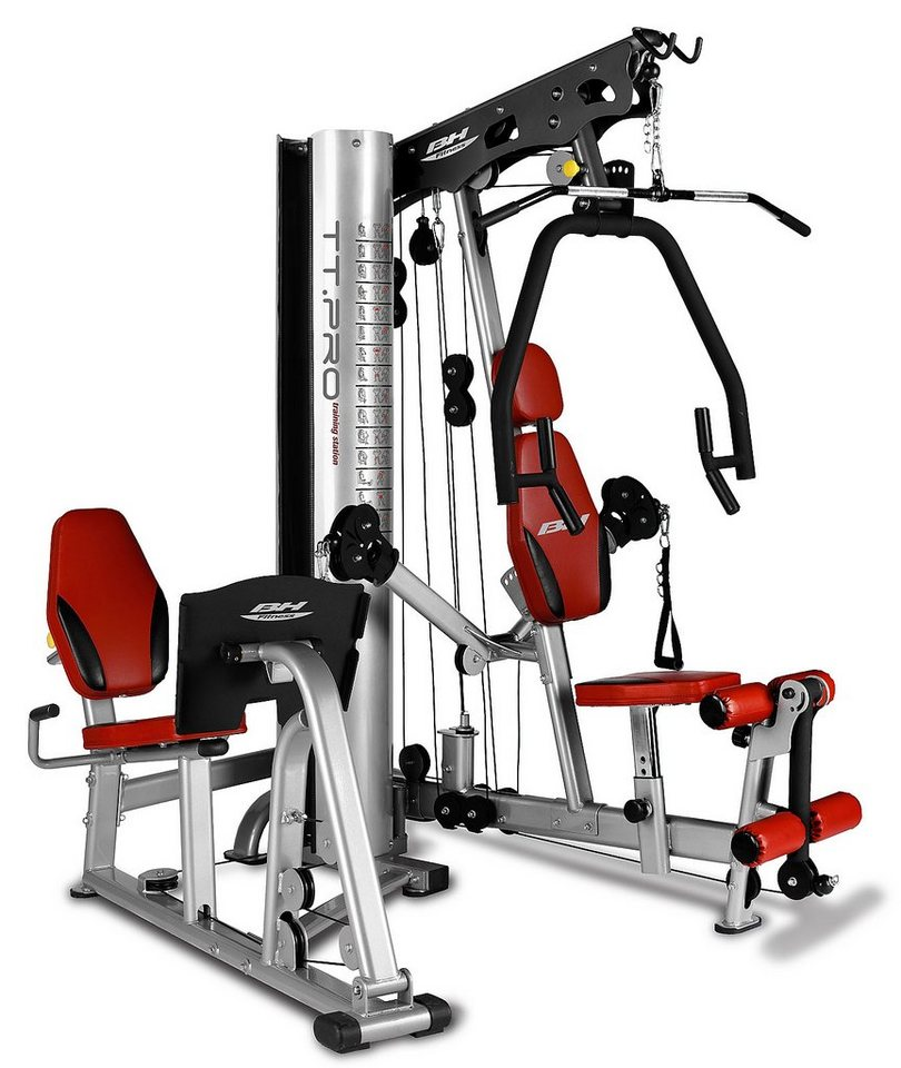 BH Fitness Kraftstation TT Pro in rot-silber-schwarz