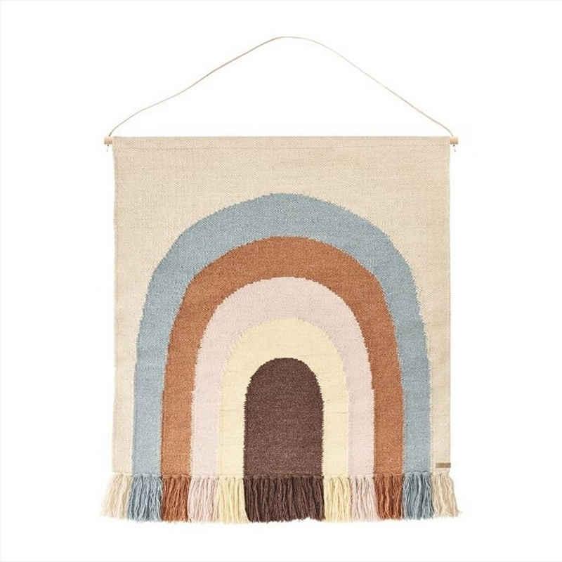 Wandteppich »Regenbogen«, OYOY, Wandaufhänger, Wandbehang, Wanddekoration, Kinderzimmer, Babyzimmer