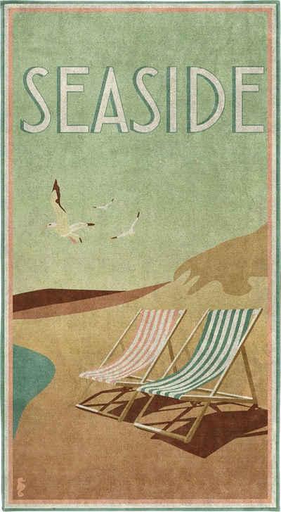 Seahorse Strandtuch »Blackpool« (1-St), mit Vintage Aufdruck