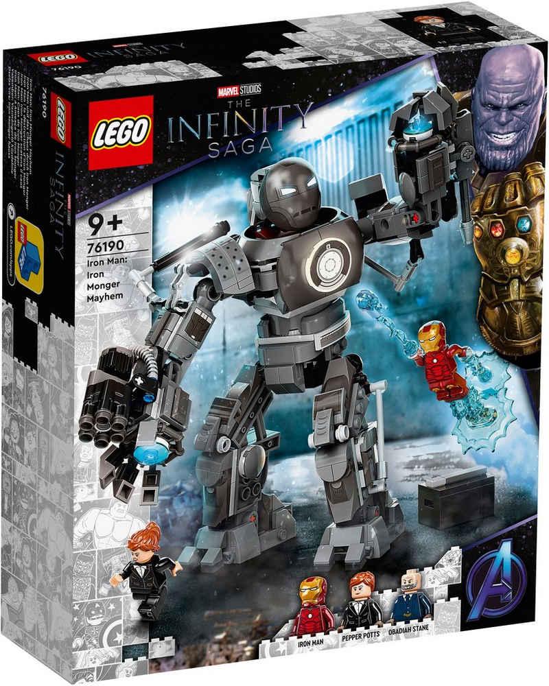 LEGO® Konstruktionsspielsteine »Iron Man und das Chaos durch Iron Monger (76190), Marvel Avengers Movie 4«, (479 St), Made in Europe