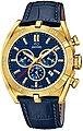 Jaguar Chronograph »UJ858/2 Jaguar Herren Uhr Sport Quarz J858/2 Leder«, (Chronograph), Herren Armbanduhr rund, extra groß (ca. 46mm), Lederarmband blau, Bild 1