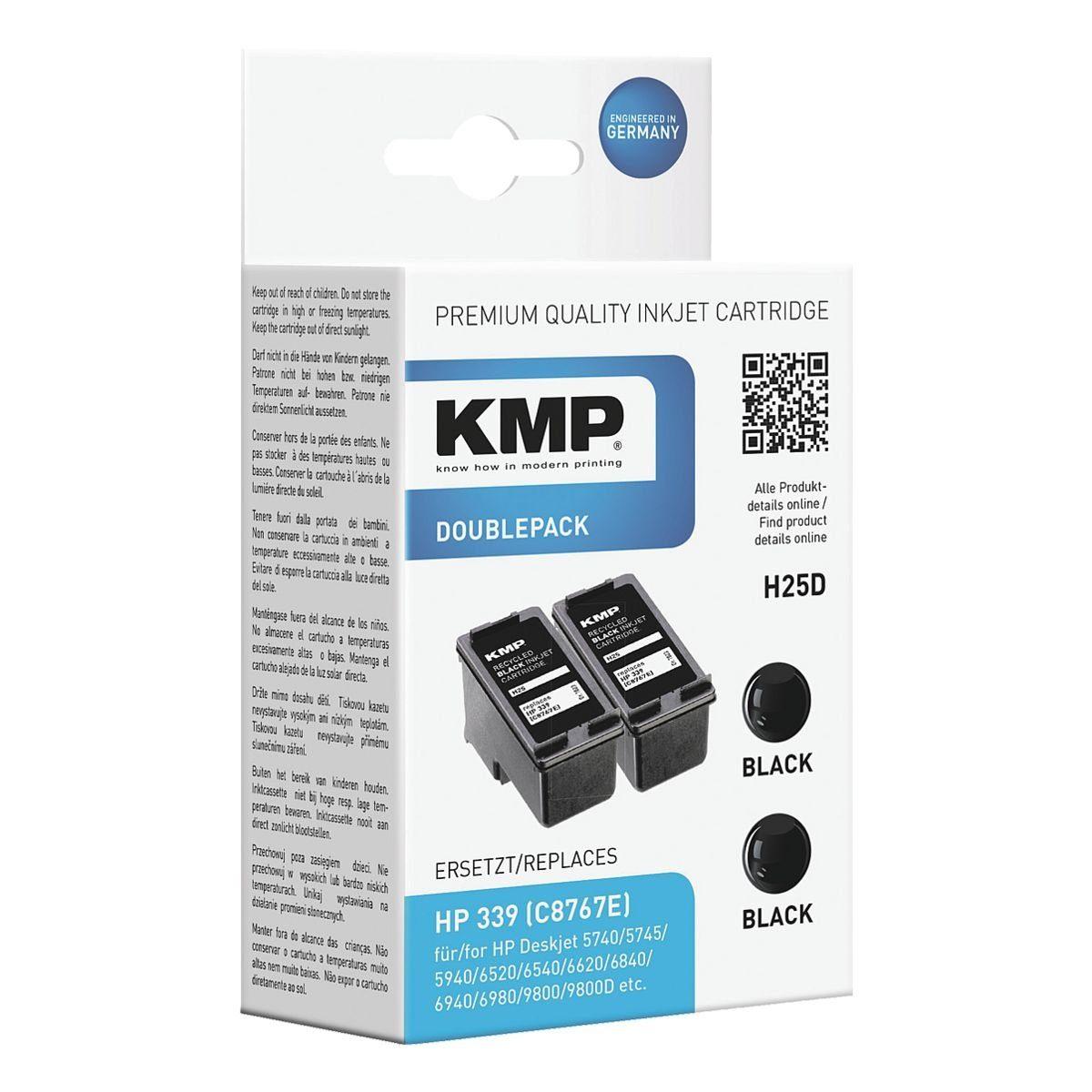 KMP 2er-Pack Tintenpatrone ersetzt HP »C8767E« Nr. 339