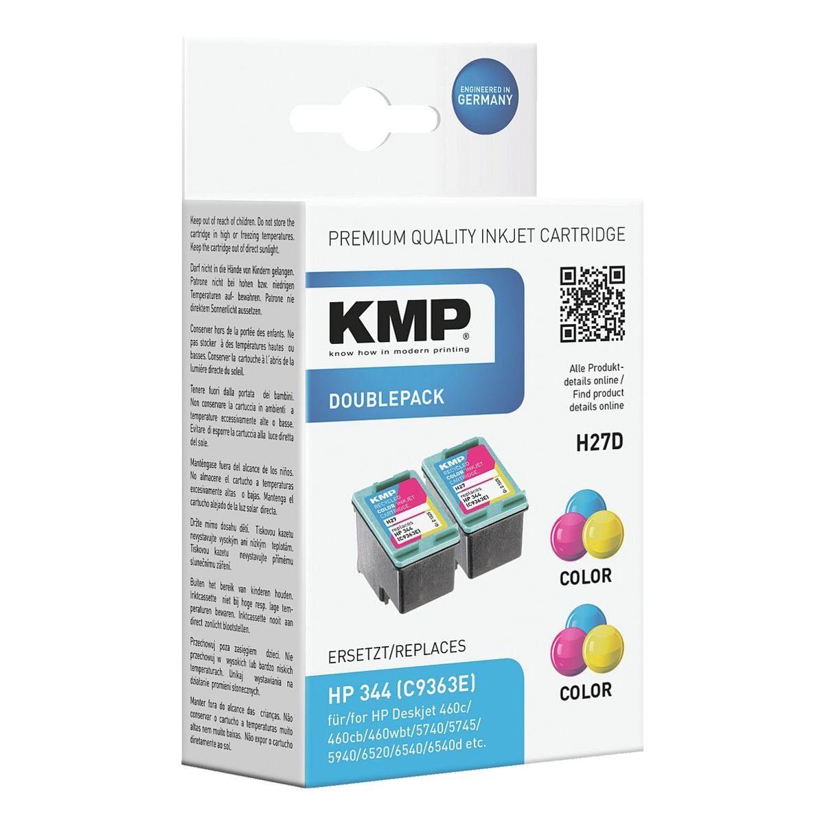 KMP Doppelpack Tintenpatronen ersetzt HP »C9363EE« Nr. ...