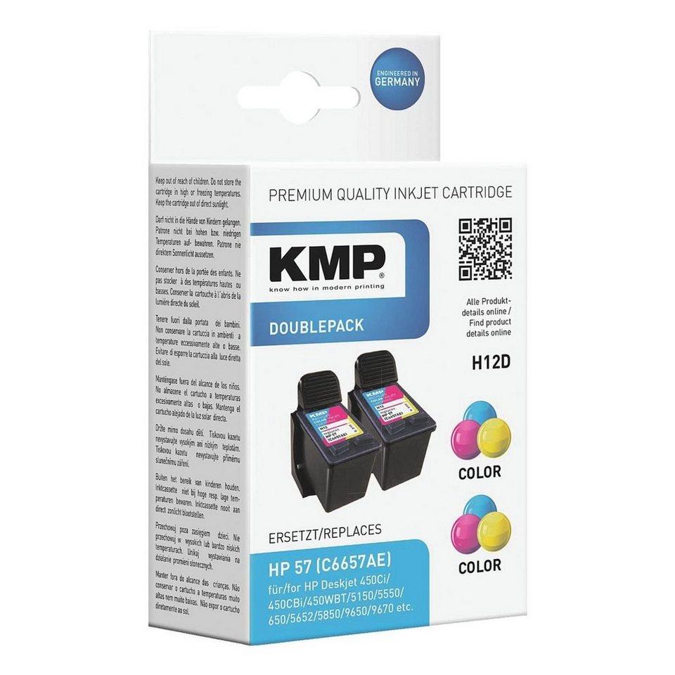 KMP 2er-Pack Tintenpatrone ersetzt HP »C6657AE« Nr. 57