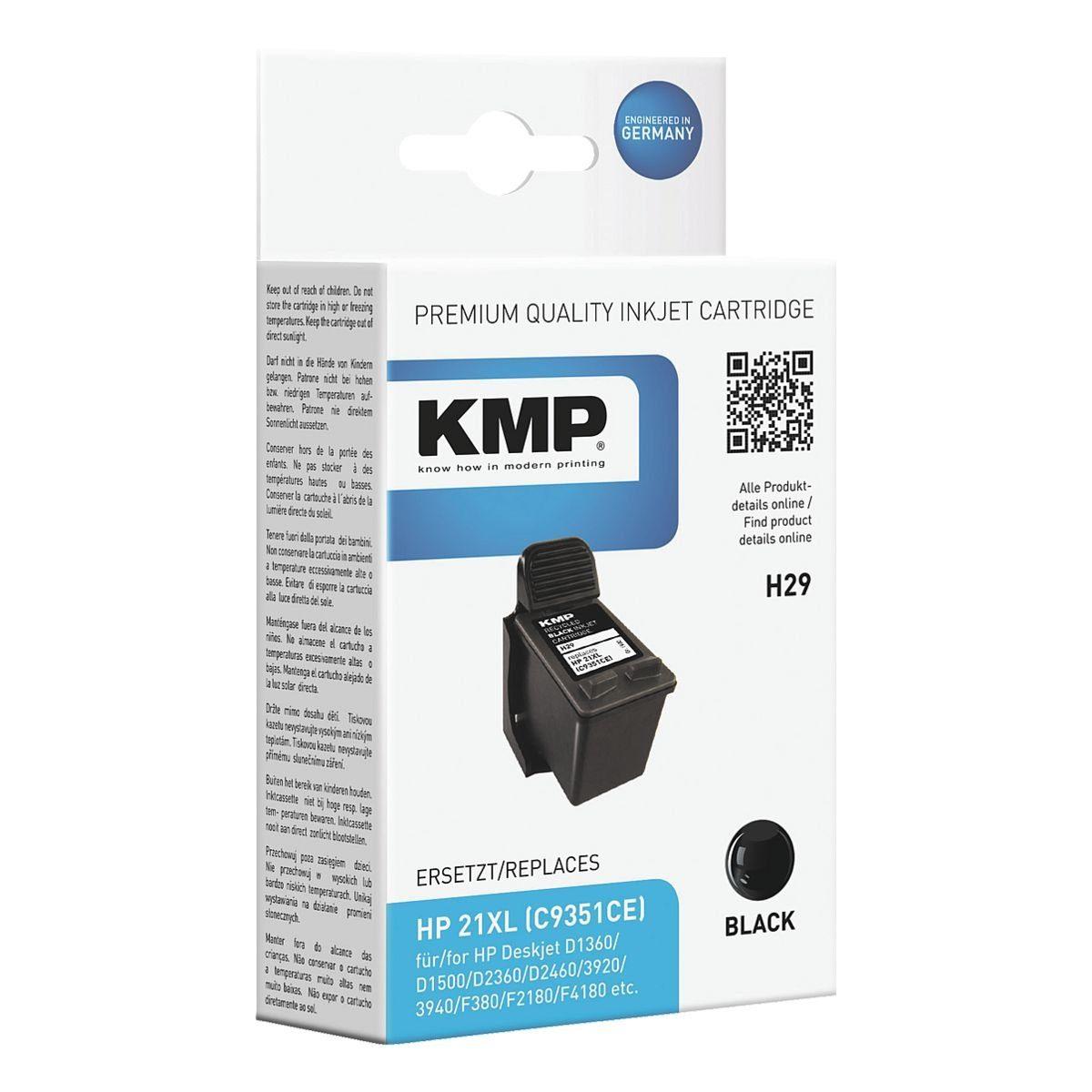 KMP Tintenpatrone ersetzt HP »C9351AE« Nr. 21