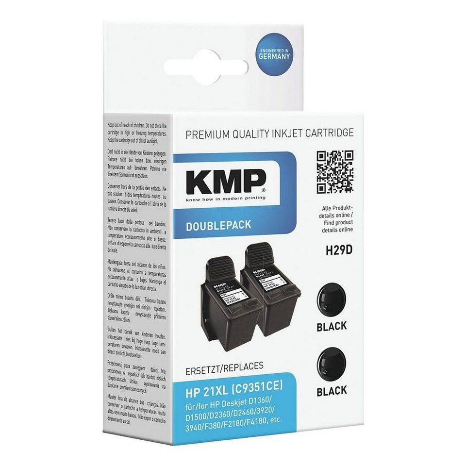 KMP 2er-Pack Tintenpatrone ersetzt HP »C9351AE« Nr. 21