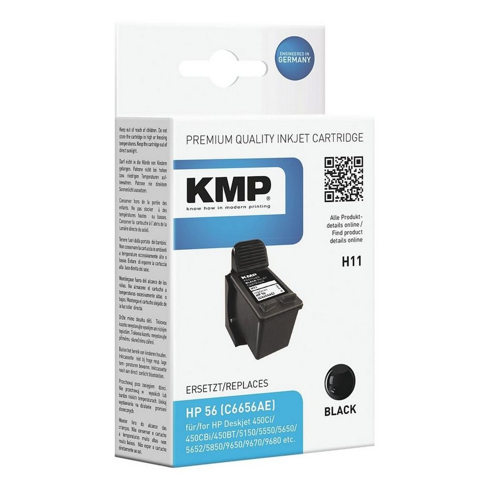 KMP Tintenpatrone ersetzt HP »C6657AE« Nr. 56