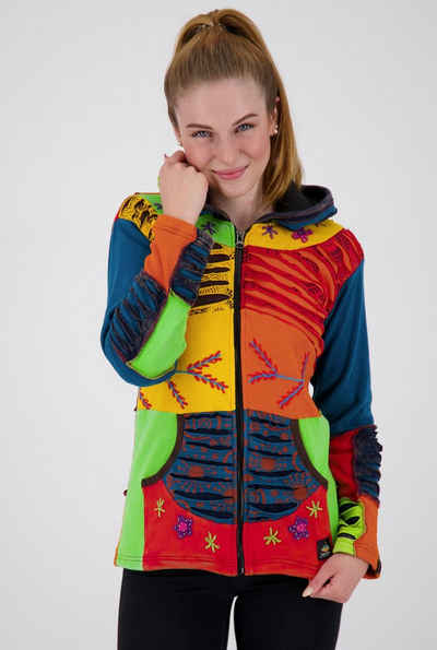 DEPROC Active Fleecejacke »Multicolor NUNAVUT WOMEN FLOWER POWER«