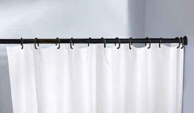 Federstange »Federstange«, Kleine Wolke, Ø 21 mm, ausziehbar, kürzbar, schwarz, für Duschvorhänge, hochwertige Verarbeitung, Länge 125-225 cm