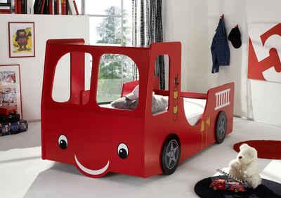 Begabino Autobett, für kleine Feuerwehrleute