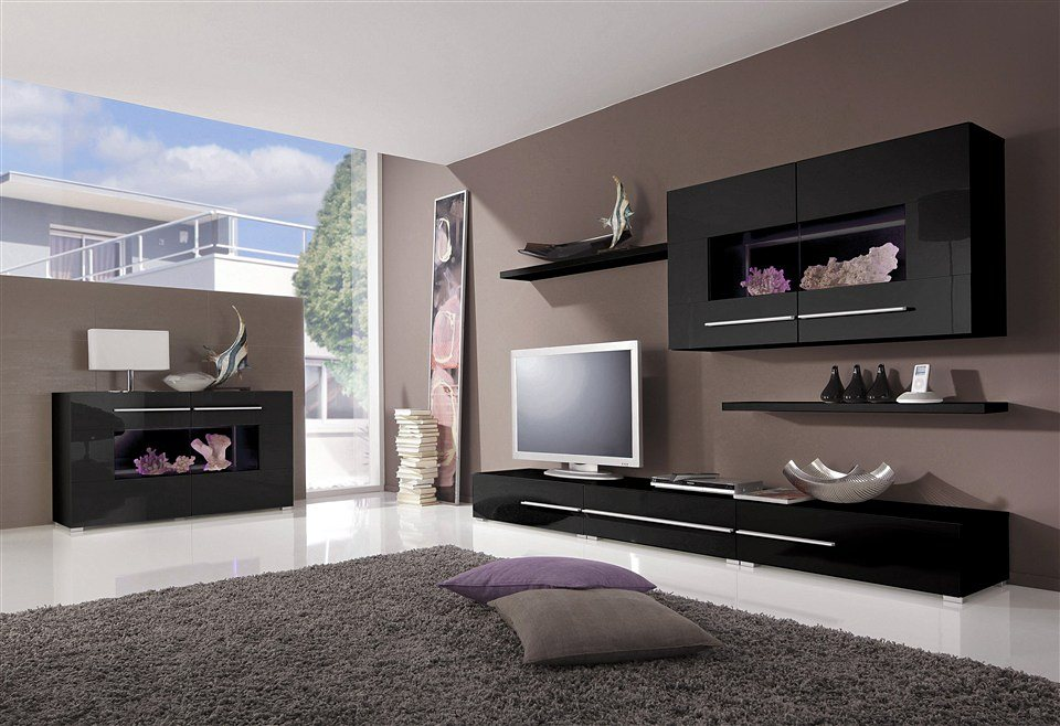 wohnwand 6 tlg online kaufen otto. Black Bedroom Furniture Sets. Home Design Ideas
