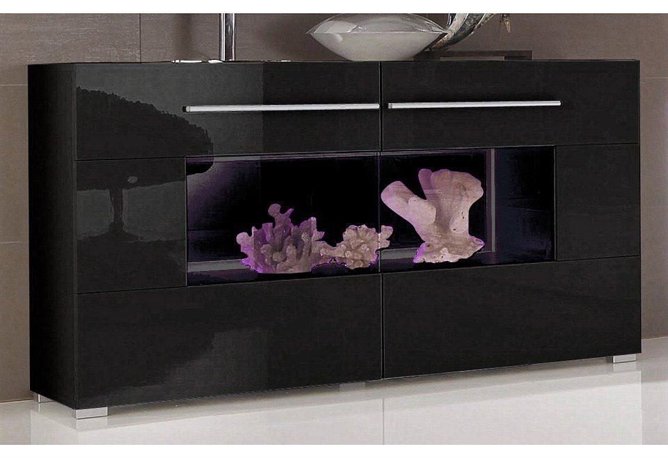 Sideboard, Breite 120 cm in schwarz-schwarz