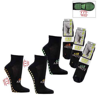 Socks 4 Fun ABS-Socken »Socks 4 Fun ABS-Kurzschaft Yoga-Sportsocken 2er Bündel« (2 Paar)