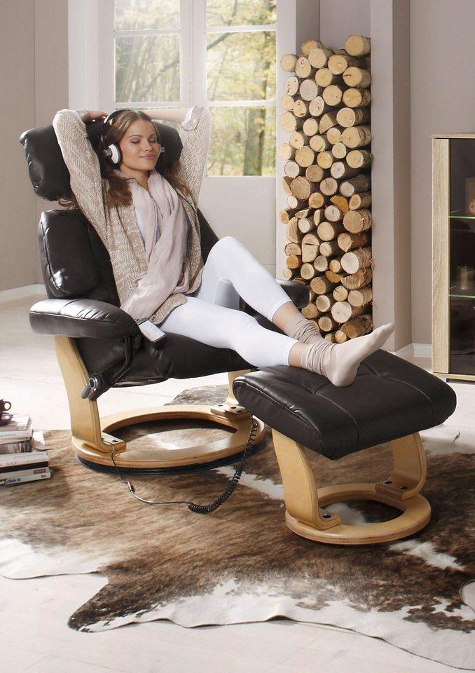 Massagesessel, inklusive Hocker | Wohnzimmer > Sessel > Massagesessel | Kunstleder