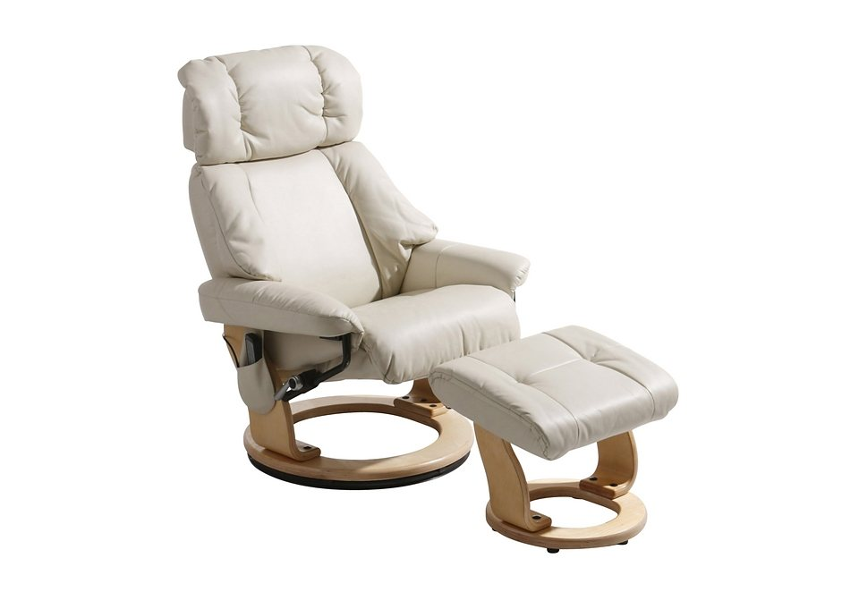 Massagesessel, inklusive Hocker in creme