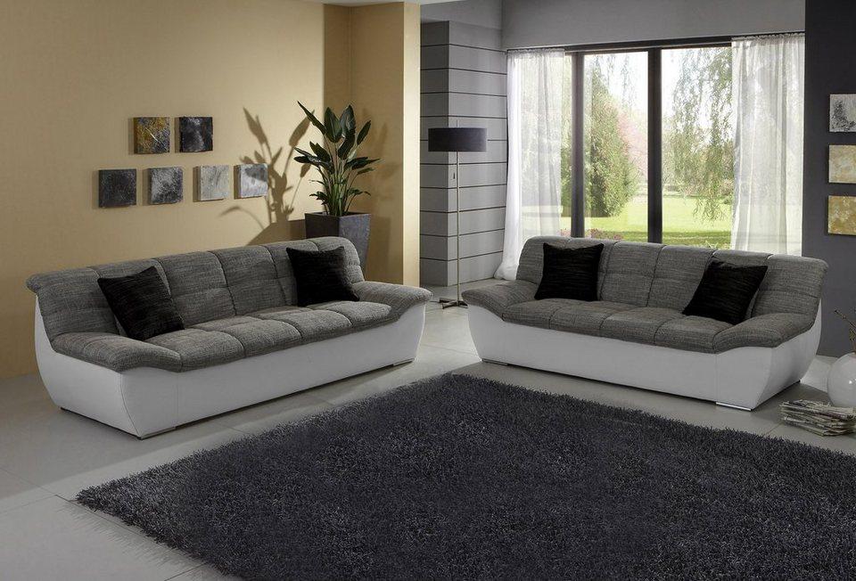 domo collection set 2 sitzer 3 sitzer kaufen otto. Black Bedroom Furniture Sets. Home Design Ideas