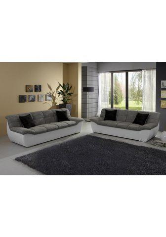 DOMO COLLECTION Rinkinys: Dvivietė sofa + Trivietė sof...