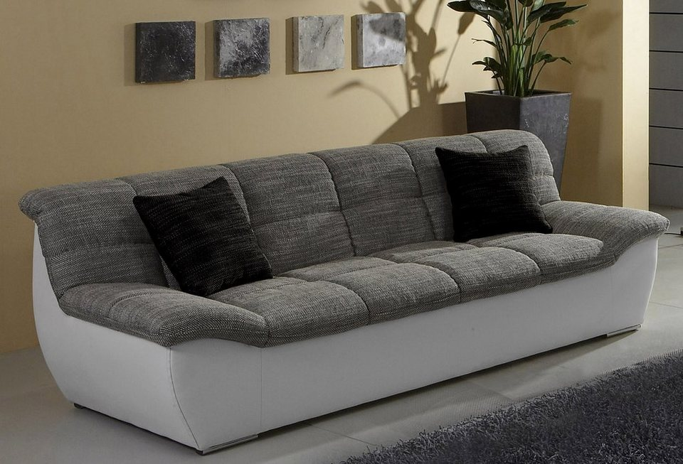 3-Sitzer in grau/weiß