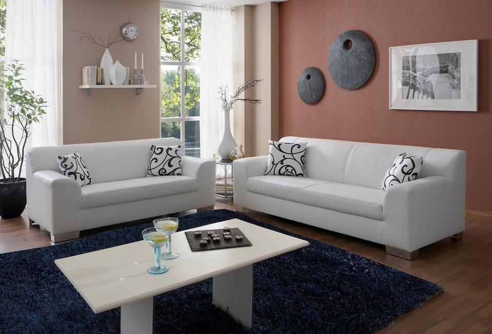 Set: 2-Sitzer + 3-Sitzer in weiß