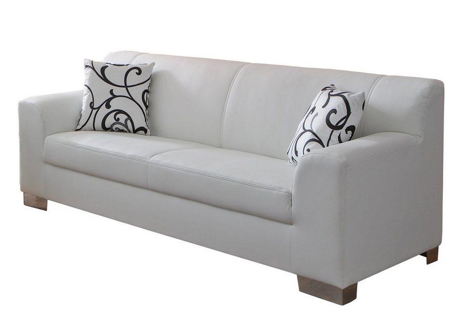 3-Sitzer in weiß
