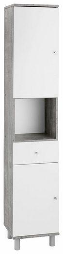 Wilmes Hochschrank »Simply« Badmöbel aus Holzwerkstoff