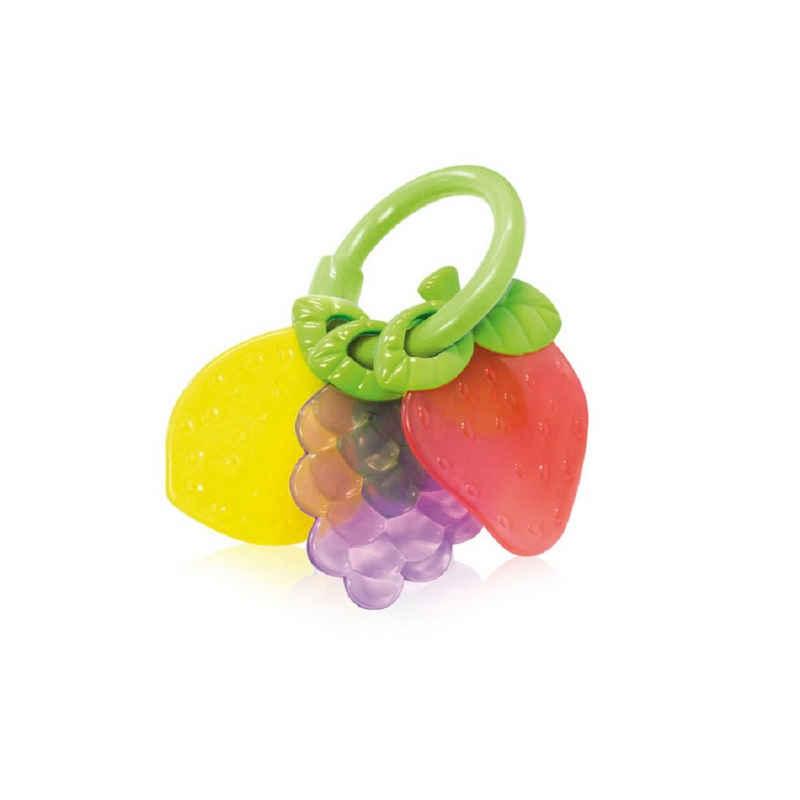 Lorelli Beißring »Beißring Früchte«, unterstützt beim Zahnen, Greifling, Rassel ab Geburt