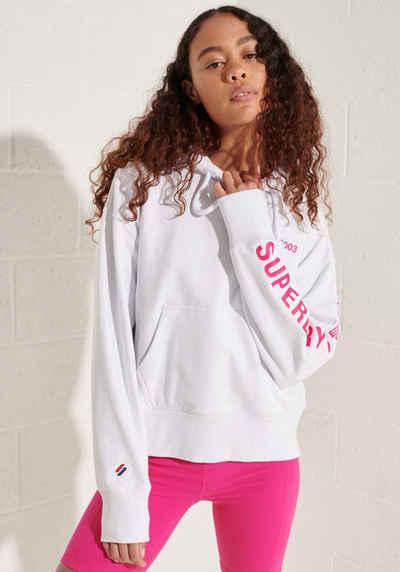Superdry Kapuzensweatshirt »Corporate Logo« kontrastfarbenden Farbdesign