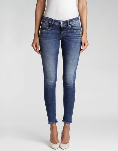 GANG Skinny-fit-Jeans »Faye« mit ausgefranster Kante