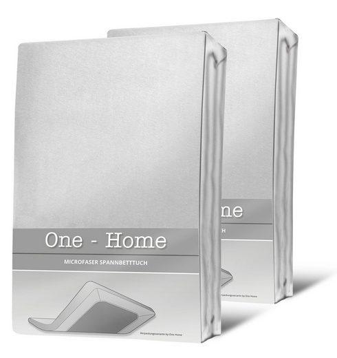 Spannbettlaken »Mikrofaser«, One Home, Double Pack mit Rundumgummizug