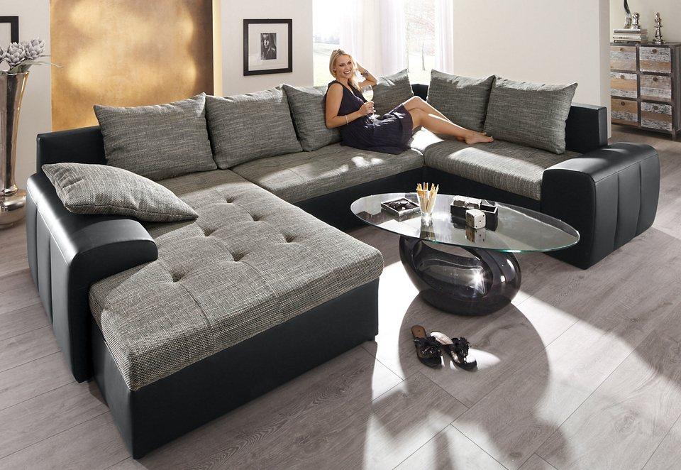 wohnlandschaft wahlweise mit federkern kaufen otto. Black Bedroom Furniture Sets. Home Design Ideas