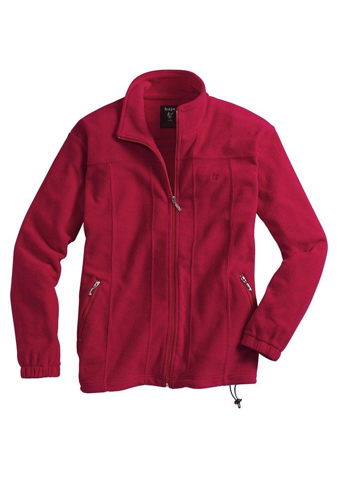 Hajo Fleece-Jacke in Stay fresh Qualität in rot