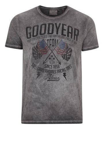 Goodyear T-Shirt »FERNALD« im lässigen Washed-Out-Look