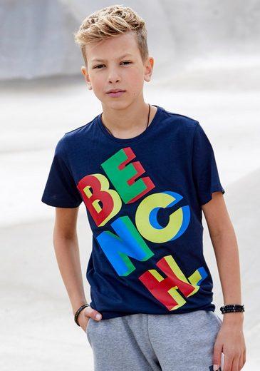 Bench. T-Shirt »mit Druck in 3D-Optik«