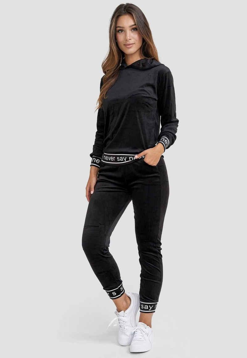 Holala Trainingsanzug »3707« (2-tlg), Damen Nicki Trainingsanzug Velours Stretch Bund Softer Sportanzug