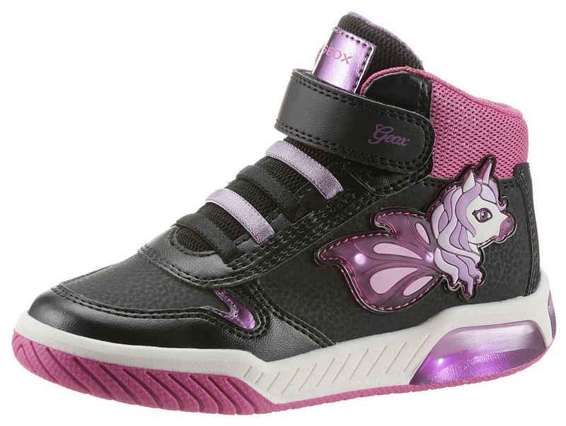 Geox Kids »J Inek Girl Blinkschuh« Sneaker mit Klettverschluss