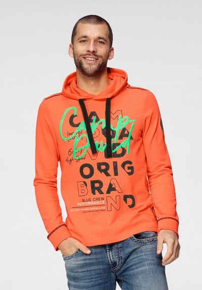 CAMP DAVID Kapuzensweatshirt mit großem Logofrontprint