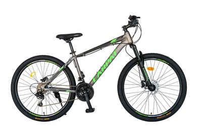 CARPAT Mountainbike »27,5 Zoll Mountainbike Fahrrad MTB Hardtail«, 21 Gang Shimano, Kettenschaltung, (mit Aluminiumrahmen, Hydraulisches Scheibenbremssystem), mit Ergonomisches Modell