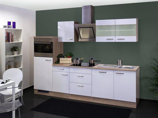 Küchenzeile mit E-Geräten »Valero«, Gesamtbreite 280 cm