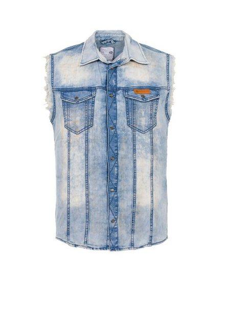 Cipo & Baxx Jeansweste »Ricky« mit Fronttaschen | Bekleidung > Westen > Jeanswesten | Cipo & Baxx