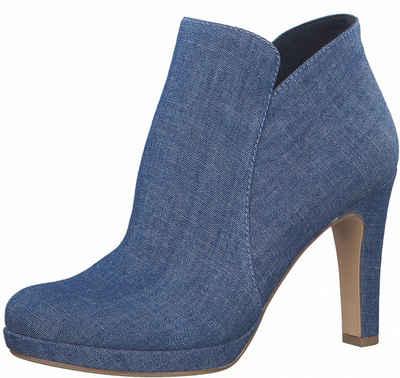 Tamaris High-Heel-Stiefelette im coolen Jeans-Look