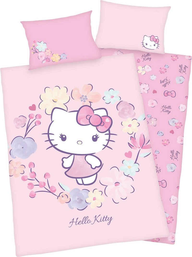 Babybettwäsche »Hello Kitty«, Hello Kitty, GOTS zertifiziert - nachhaltig aus Bio-Baumwolle